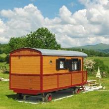 Caravan near Salers in Cantal