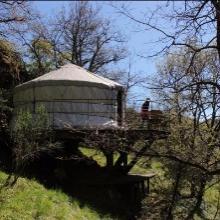 Petite yourte près de Lamalou-les-Bains dans l'Hérault