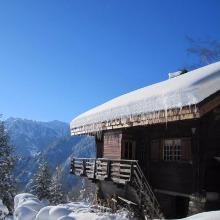 Chalet de montagne dans les Pyrénées en station de ski