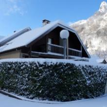 Grand chalet avec jolie vue sur la chaîne des Pyrénées
