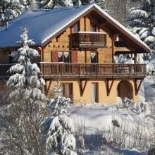 Chalet au pied des pistes de ski dans les Vosges