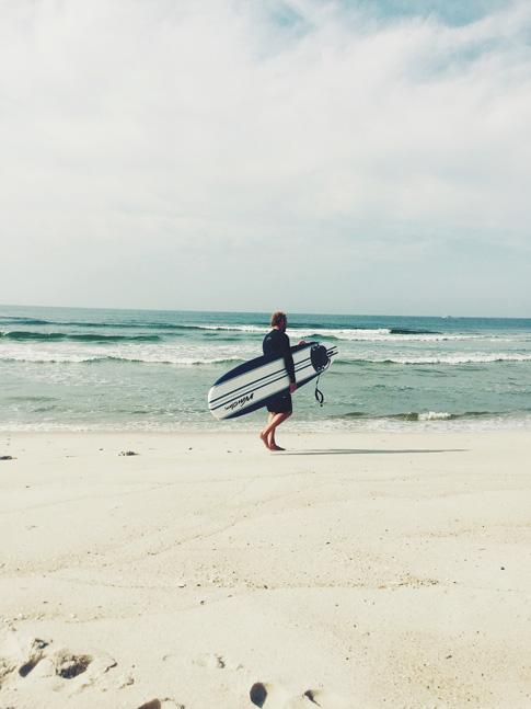 surf sur la côte atlantique